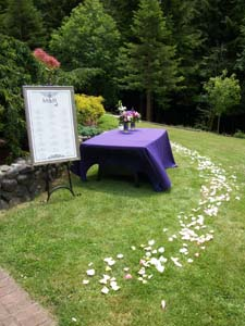 Wedding Aisle with Petals in Arcata CA, Country Living Florist & Fine Gifts