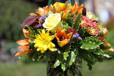 Wedding Arrangement in Arcata CA, Country Living Florist & Fine Gifts