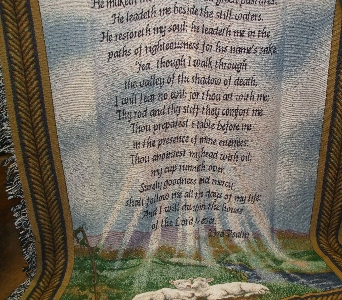 23rd Psalm Throw in Evansville IN, Cottage Florist & Gifts