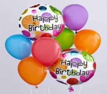 Birthday Float Balloon Bouqeut in Princeton, Plainsboro, & Trenton NJ, Monday Morning Flower and Balloon Co.