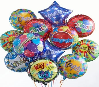 Congratulations Balloon Bouquet in Princeton, Plainsboro, & Trenton NJ, Monday Morning Flower and Balloon Co.