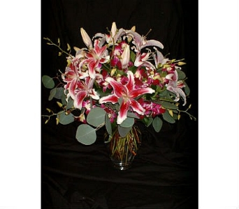 Pink Lilies and Orchids in Dallas TX, Z's Florist