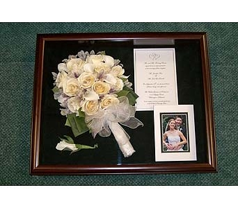 Wedding Shadowbox in Middletown DE, Forget Me Not Florist & Flower Preservation