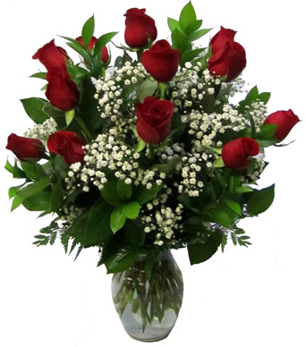Deluxe Dozen Long Stemmed Roses in Newport News VA, Pollards Florist