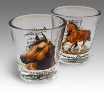 Mustang Shot Glass in Camden AR, Camden Flower Shop