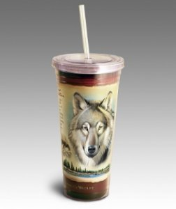Gray Wolf Tumbler in Camden AR, Camden Flower Shop