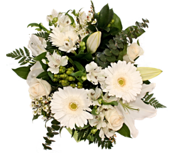 White Elegance Bouquet  in Grimsby ON, Cole's Florist Inc.