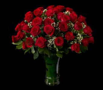 Classic Valentine's Four Dozen Red Roses in Darien CT, Nielsen's Florist And Garden Shop