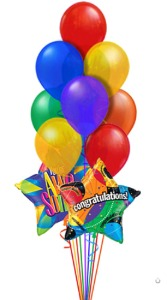 Congratulations Balloon Bouquets (14 Balloons) in Chatham ON, Pizazz!  Florals & Balloons