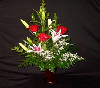 Stargazer Lilies and Roses in Grapevine TX, City Florist