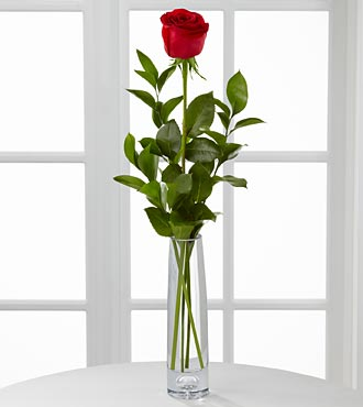 One rose bud vase in Chapel Hill NC, Floral Expressions and Gifts