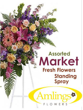 Market Fresh Spray on a Stand in Chicagoland IL, Amling's Flowerland