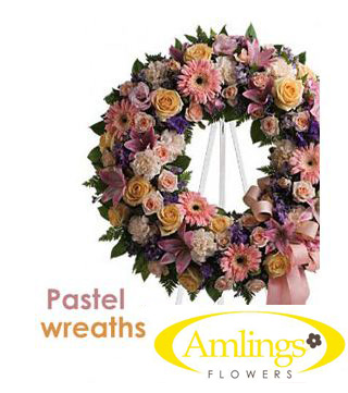 Pastel Wreath in Chicagoland IL, Amling's Flowerland