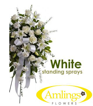 SCI White Standing Spray in Chicagoland IL, Amling's Flowerland