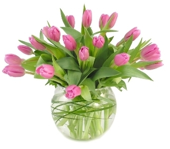 Wild About Pink Tulips in Southfield MI, Thrifty Florist