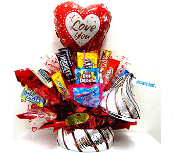 "CB278  ""Hershey's Hugs"" Candy Bouquet in Oklahoma City OK, Array of Flowers & Gifts"