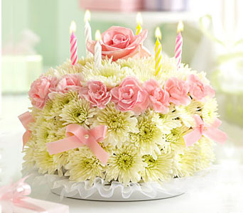 Birthday Flower Cake in Fairfax VA, Greensleeves Florist