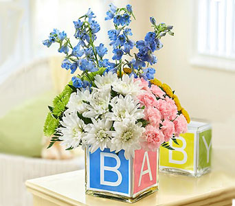 Alphabet Baby Block in Fairfax VA, Greensleeves Florist