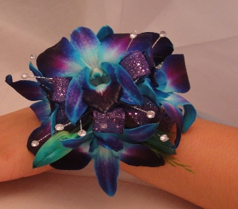 Blue and purple orchid with diamond accents. in Greenville SC, Expressions Unlimited