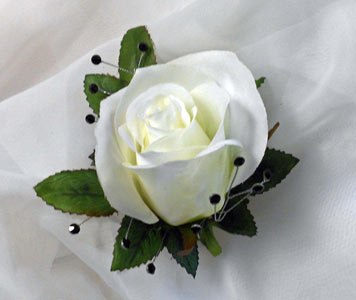 Standard Rose Boutonnier with Rhinestones in Royersford PA, Three Peas In A Pod Florist