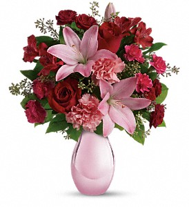 Teleflora's Roses and Pearls Bouquet in Mount Morris MI, June's Floral Company & Fruit Bouquets