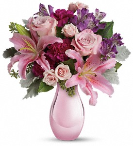 Enchanting Pinks by Teleflora in Norwich NY, Pires Flower Basket, Inc.