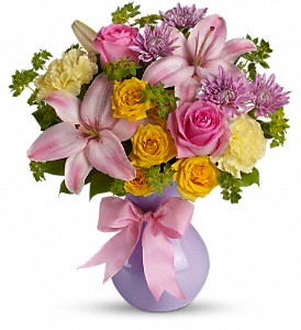 Teleflora's Perfectly Pastel in Madera CA, Plaza Flower Shop