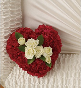 A Devoted Heart Casket Insert in Raleigh NC, Bedford Blooms & Gifts