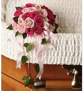 Rose Reflection Casket Insert in Raleigh NC, Bedford Blooms & Gifts
