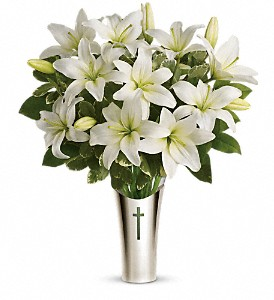 Teleflora's Sacred Cross Bouquet in North Bay ON, The Flower Garden