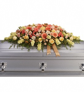 Warmest Remembrance Casket Spray in Orlando FL, Windermere Flowers & Gifts