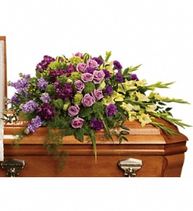 Reflections of Gratitude Casket Spray in Bakersfield CA, White Oaks Florist