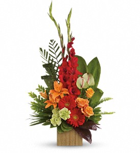 Heart's Companion Bouquet by Teleflora in Bloomington IL, Forget Me Not Flowers