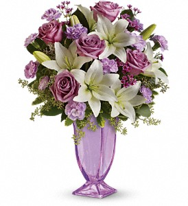Teleflora's Lavender Love Bouquet in Fullerton CA, King's Flowers