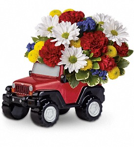 Jeep Wrangler Blazing Trails Bouquet by Teleflora in The Woodlands TX, Rainforest Flowers