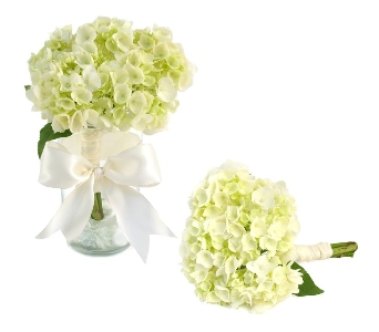 Single Hydrangea Wedding Bouquet (Metro-Detroit Ar in Southfield MI, Thrifty Florist