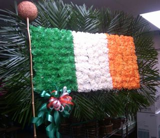 Irish Flag Specialty Piece in New Milford NJ, Denis Flowers