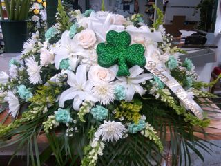Irish-Theme Specialty Casket Cover in New Milford NJ, Denis Flowers