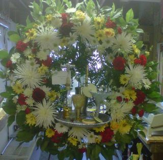Martini-Wreath Specialty Piece in New Milford NJ, Denis Flowers