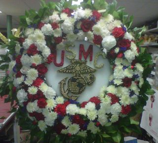 U.S.M.C. Specialty Wreath in New Milford NJ, Denis Flowers