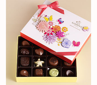 Spring Chocolate Gift Box (16 pc.) in Bayside NY, Bell Bay Florist