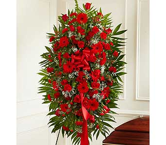 Red Mixed Sympathy Standing Spray in Jersey City NJ, Hudson Florist