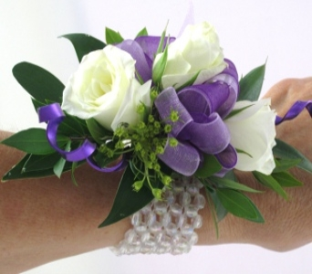 A Blast of Purple Corsage in Raleigh NC, North Raleigh Florist