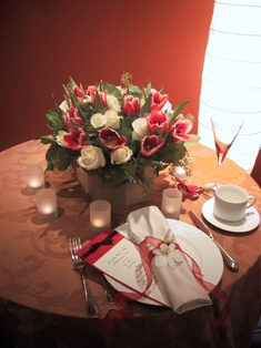 Centerpiece and Napkin Treatment in Somerset NJ, Flower Station