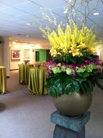 Lily, Orchid, Hydrangea Centerpiece in Somerset NJ, Flower Station