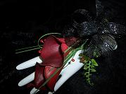 Double Calla Lily Wrist Corsage in Mount Vernon OH, Williams Flower Shop