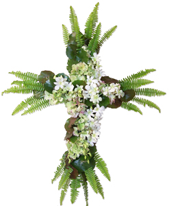 Honor - Cross Flower Spray in Dallas TX, Dr Delphinium Designs & Events