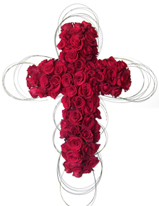 Blessing - Cross Rose Spray in Dallas TX, Dr Delphinium Designs & Events