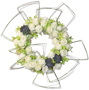 Adoration - Flower Wreath Spray in Dallas TX, Dr Delphinium Designs & Events