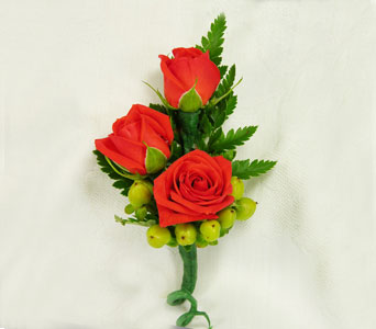 Spray Rose Boutonniere with Hypericum in Ogden UT, Jimmy's Flowers